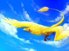 Commission: Sun dragon by AironMag