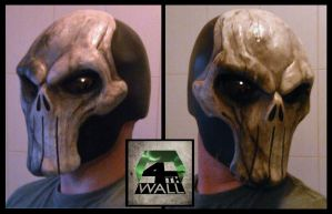 Skull Helmet - Battle Damaged version. by 4thWallDesign