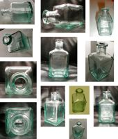Stock: Square Bottle by neato-stock