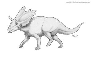 Mojoceratops by mirroreyesserval