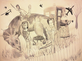 The Doctor's family WIP by Ryvienna