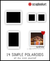 Simple Polaroid Set 01 - ABR by scrapbookart