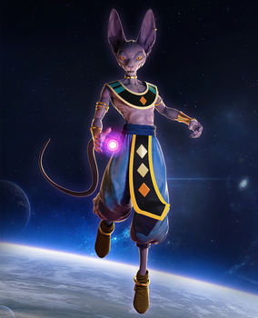 Beerus - God of Destruction by Hyb1rd-1982