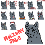 HOLIDAY ICONS : CLOSED: by demonwolf1999