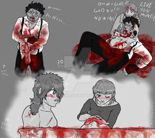Bubba and Stretch goretober story by Ynnep