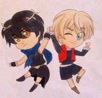 Art trade of shulk and dark pit by japanindisguise
