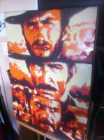 The Good, the Bad and the Ugly. stencil by sisma21