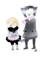 Alois Trancy and Claude Fautus by Yasuwolfie