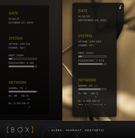 BOX - Conky Config by iHackr