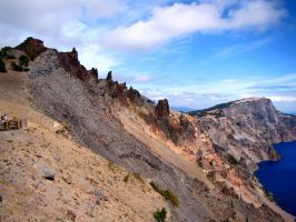 Crater Lake Cliff by Geotripper