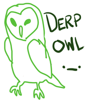 Derp Owl by MamaGizzy