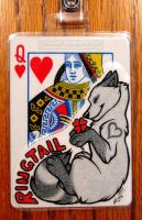 Playing Card Badge: Ringtail by FlannMoriath