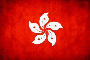 Hong Kong Grunge Flag by think0