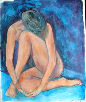 Mixed Media Nude by art-angeles