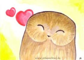 Happy Owl by ankewehner