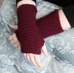 Maroon Wrist warmer by DarkRaven17