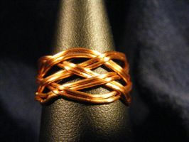 Celtic Ring in 20ga Copper by BacktoEarthCreations