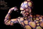The Thing bodypainted fantastic 4 gun check muscle by Bodypaintingbycatdot