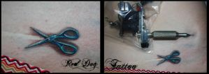 The Smallest Scissors by Reddogtattoo