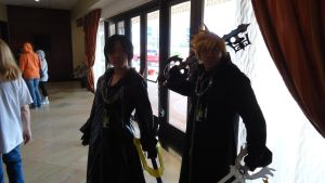 Roxas and Xion by Darknightdv