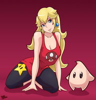 Peach Relaxed by BlueSuperSonic