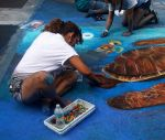 Barefoot Street Chalk Artists by BarefootGuy