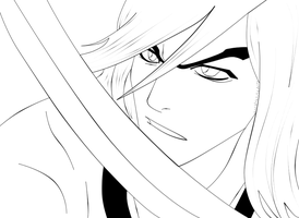 LINEART-- Thunder, My Blade by Hydropop