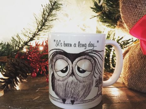 It's been a long day Mr. Owl - coffee mug for sale by InkyDreamz