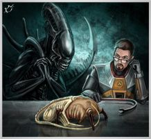 Headcrab + facehugger = Headhugger? by frostbite23