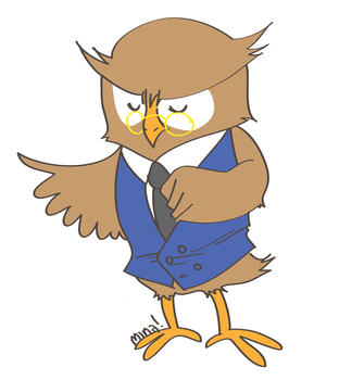 lawyer owl by minakim