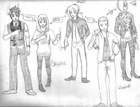 Cast Sketch by Mister-Sol
