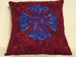 Celtic Cross Pillow by KnottyCovers