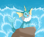 Vaporeon as The Little Mermaid by Bluekiss131