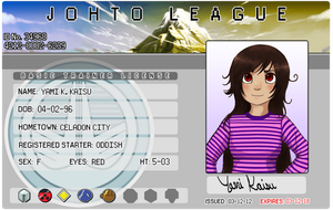 Yami's Johto League Trainer Liscense by Yamikaisu
