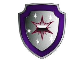 Twilight Sparkle Shield of Honor - MARK WITH STARS by SwedishRoyalGuard