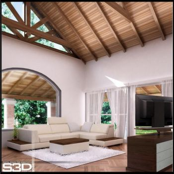 country house interior by SilvioGarcia