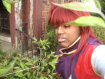 Kurama is looking at the plants by BlueRosePetalsQueen