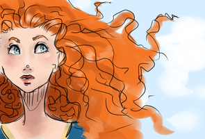Sketch:Merida by monobani