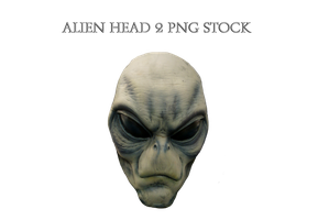 Alien Head 2 PNG STOCK by KarahRobinson-Art