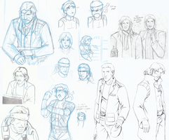 MGS Sketchdump by JadeRaven93