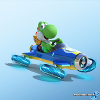 Mario Kart 8 Artwork - Yoshi by Legend-tony980