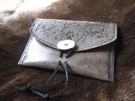 Wolf and Vines Slim Belt Pouch by TheScreamingNorth