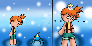 Misty's reaction to Surskit by KiKiD484