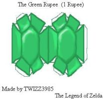 Green Rupee Papercraft by Twizz3985