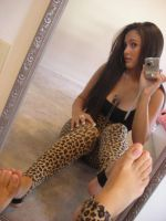 Beautiful Leopard on Mirror by SelfshotYourFeet