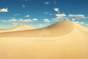 Simple Desert Sand Dunes by PhotoGraphicdesign