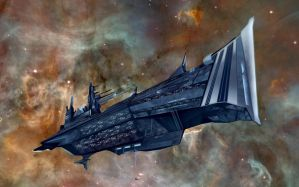 Starship Destroyer Class by grinningcat83 by Grinsekatze83