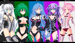 Hyperdimension-Neptunia-collab by Gray699