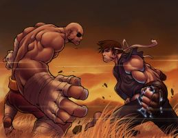 ryu vs. sagat part ll by DXSinfinite