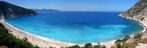 Myrtos Beach Panorama by calincosmin